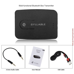 Syllable E3 multi-functional Bluetooth Box Transmitter 3.5mm Bluetooth 4.0 For computer TV audio ada