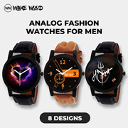 Analog Fashion Wake Wood Watches for Men