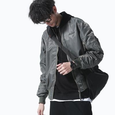 1e990f799 28 fall Mens MA1 bomber jacket trend of the Korean embroidery baseball  uniform