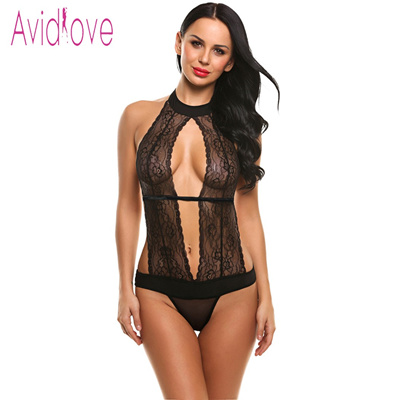 f4de04a5349 Qoo10 - Avidlove Women Sexy Lingerie Halter Mini Babydoll Dress Lace  Patchwork See Through Nightwear with Gstring Search Results : (Q·Ranking):  Items now ...