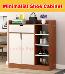 【Shoe Cabinet】Minimalist Wooden Shoe Shelf/  4/5 Tier Shoe Rack