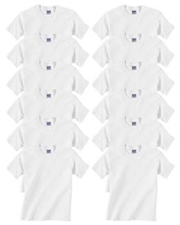 Gildan Heavy Cotton T-Shirt, White, Large (Pack of 12)
