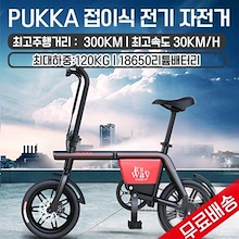 PUKKA folding electric bicycle / free shipping / maximum mileage 300KM / battery capacity 48V20.8AH / motor output 240W / maximum speed 30KM / h / full-back disk brake /