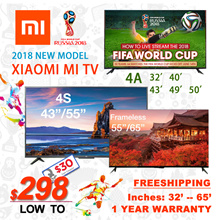 $298 After Coupon JUST★ 2018 new model★ 1 year warranty Authentic Xiaomi Mi TV4S/4/4A
