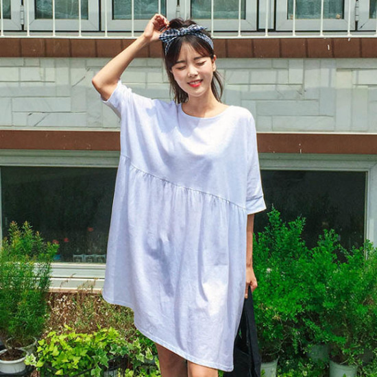 あっかんべーショップチクチョクルージュOPS 綿ワンピース/ 韓国ファッション