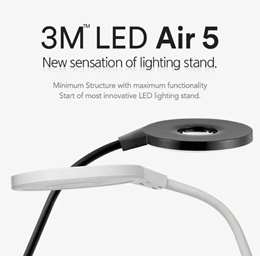 3M FINELUX LED Stand 8400 / 3M 8400 Desk LED Stand Lamp / Desk Light / 5 Levels Brightness
