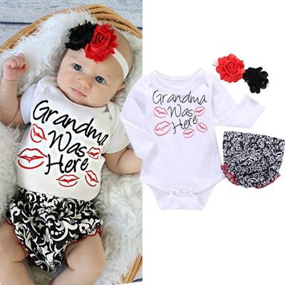 f33246d6c Qoo10 - Toddler Newborn Baby Girls Tops Romper+Pants+F  lt wbr    gt ...