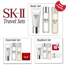 Use Qoo10 Coupon! SK-II Set - For your everyday skincare needs. Cleanser Lotion Essence RNA