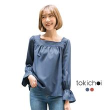 TOKICHOI - Mini Bell Sleeved Blouse-180034