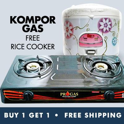 Beli 1 Gratis 1_Beli Kompor Gas Progras Bonus Rice Cooker Free Ongkir Jabodetabek Deals for only Rp345.000 instead of Rp345.000