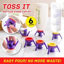 6pcs Toss It Bottles Stand Cap Kit Easy Pour Out Thick Liquid Economy Cap Kit **flip it cap**