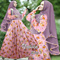 Hijab set - gamis - maxi dress -long dress + pashmina / bergo syari