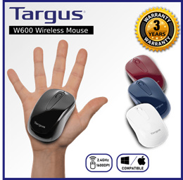 TARGUS W600 Wireless Optical Mouse / Red / Blue / Black / White