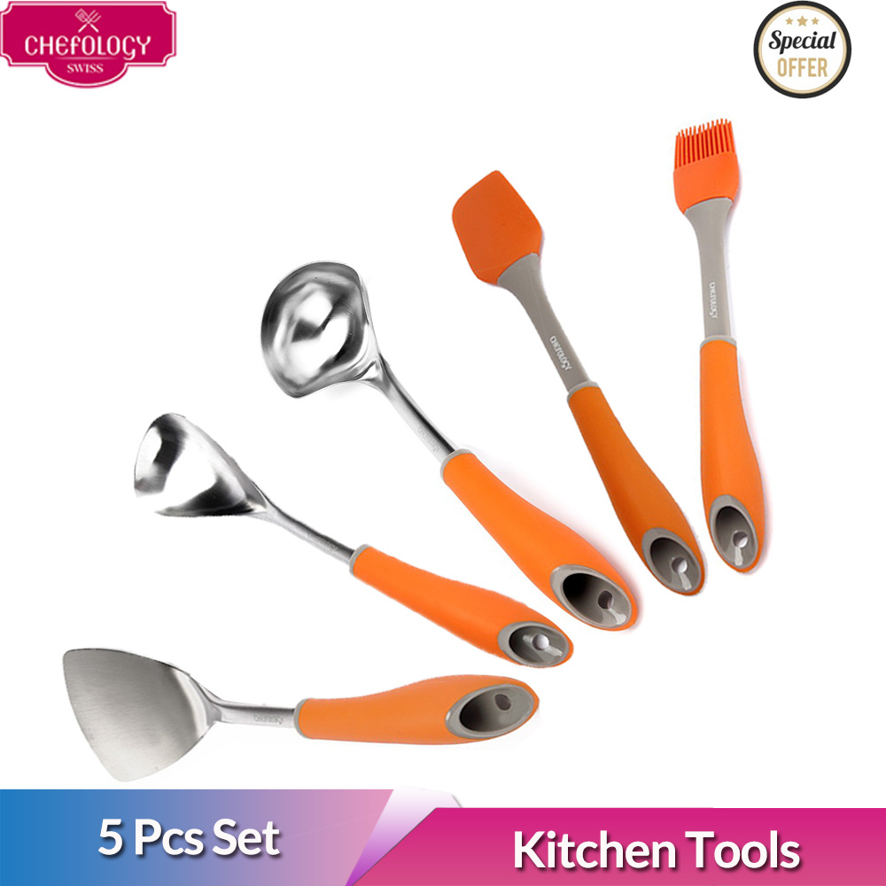 Qoo10 - [Chefology Swiss] SILICONE COOKWARE/Set of 5/ spatula/Food ...
