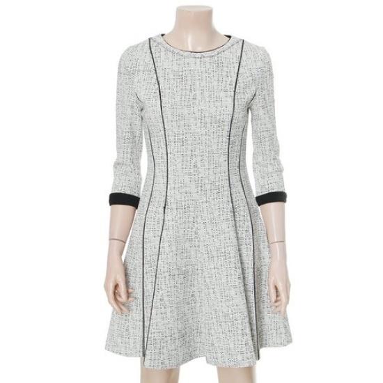 リスト16年7部配色ヘリンボーンワンピースTWWOPG70040 面ワンピース/ 韓国ファッション