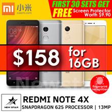 [$158 Nett] Flagship Redmi Note 4X Snapdragon625 2.5D 5.5inch 3GB/4GB+32GB/64GB Dual SIM. Best Deals