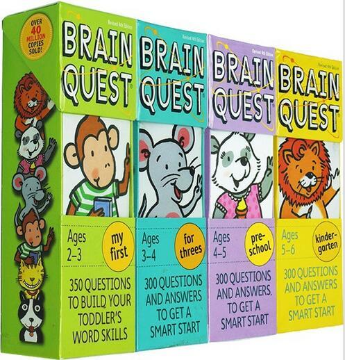 Brain Quest Card Child Game Puzzle Quiz Kid Story Book For 213Years Baby Toy Children