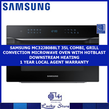 SAMSUNG MC35J8088LT 35L COMBI GRILL MWO WITH HOTBLAST DOWNTREAM HEATING *1YEAR LOCAL AGENT WARRANTY
