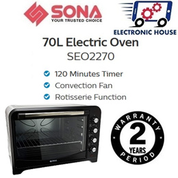 ★ Sona SEO2270 70L Electric Oven ★ (2 Year Singapore Warranty On Electrical Parts)
