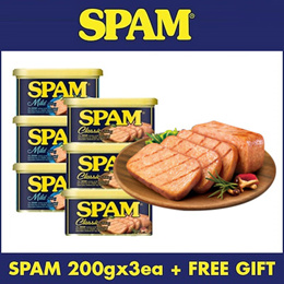 [CJ] SPAM Classic Luncheon meat 200gx3EA / Korea Ham Sausage StewPork Can / Spam slicer★FREE GIFT★