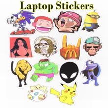 Laptop Stickers / Mario Kart / Spongebob / Peppa Pig / Pokemon / One Piece / Superman / Iron Man