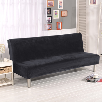 Sale Plush Fabric Fold Armless Sofa Bed Cover Folding Seat Slipcover Thicker Covers Bench Couch Prot