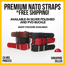 Premium Quality Nylon Nato Straps  - 18 20 22 and 24mm (Free Local Postage)