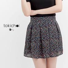 TOKICHOI - Geometric Printed Mini Skirt-170492
