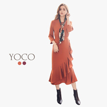 YOCO - Frill Layer Maxi Dress-172378-Winter
