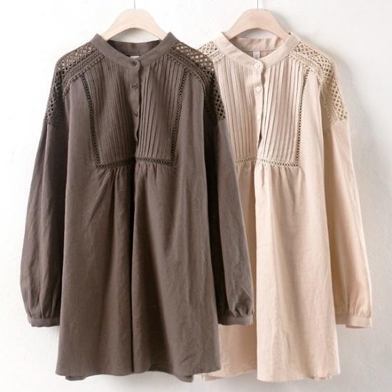 ウィスィモールIWホミンブルラワンピースCT1708 綿ワンピース/ 韓国ファッション