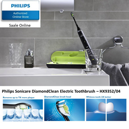 Philips Sonicare DiamondClean Rechargeable Sonic Toothbrush -HX9352/04 with FOC Brush Head worth $52