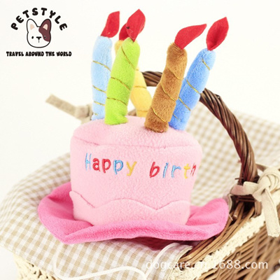 Lovely Pet Small Dog Warm Happy Birthday Hats Cape Winter Cute Cat Puppy Grooming