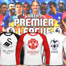 Premier League/Raglan T shirts/Jersey/Football/soccer/United United/Chelsea/Liverpool/Arsenal/sleeve shirt