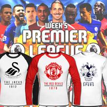 Premier League/Raglan T shirts/Jersey/Football/soccer/United United/Chelsea/Liverpool/Arsenal/sleeve shirt