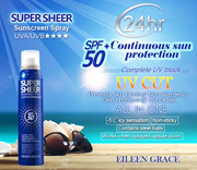 LOCAL SELLER SUPER SHEER SUNSCREEN SPRAY UVA/UVB***SPF50+ ♥ 50ML/180ML SunBlock