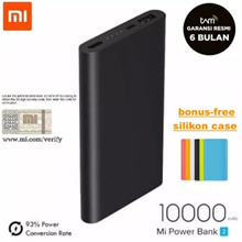 Powerbank Xiaomi Mi 2 10000 MAh ** SILICON BONUS FAST CHARGING ORIGINAL Power Bank 1-TAM USB Warranty