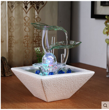 Home Decor Water Fountains.Lucky Wind Turbine Humidifier Water Fountains Home Decor Ceramic Arts And Crafts Living Room Offic
