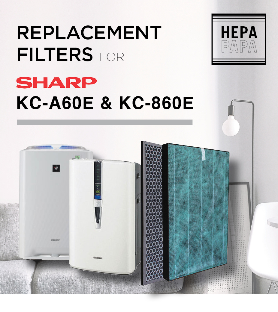 Array - compatible replacement hepa and carbon filters for sharp kc a60e   kc860e free delivery   rh   qoo10 sg