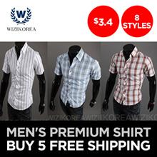 [WIZI] [Special Price] [5 Buy Free] Mens Premium 8 Style Shirts / Super sale / t-shirt / V-neck / round neck / short sleeve