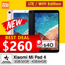 [GROUPBUY] $260 for 64GB !!! Latest Xiaomi Mi Pad 4 * Mi Pad 4 PLUS * WIFI/LTE * 4GB+64GB * 6000 mAh
