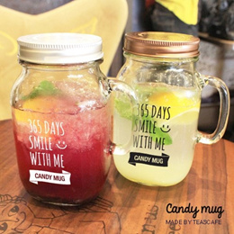 ★Gift Idea★ Candy Mug Glass Jar/Water Bottle/Milk/Tea/Coffee/Beverage/Made in Korea/Ball Mason/BPA Free/Bottles/Nalgen/Pot/Cup/Container/Storage/Food/Cake