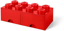 LEGO 8-Stud RED Storage Brick Drawer (LS-40061730)