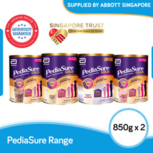 [Bundle of 2] Abbott Pediasure Gold 850g (Vanilla/Chocolate/Strawberry/Sucrose Free)