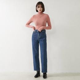 [ROCOSIX官方旗艦店]率性簡約單寧牛仔闊腿褲