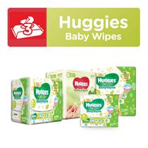 Bundle [HUGGIES] Baby Wipes - Gentle Care (20x3/80x3/40x4) / Nourishing Cucumber Aloe Vera (72x3)