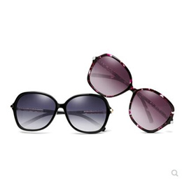 R.B.Space Trendy Color Oversized Square Sunglasses With Leopard Print Detail