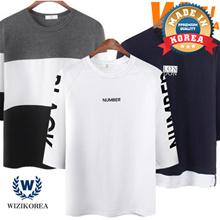 [WIZI] Special Price👍 NEW Mens stylish 👕 Short Sleeve round/V-neck T-shirt