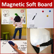 [Free Shipping] 0.65mm Thick Magnetic Whiteboard Roll Sticker White Board Wall Kid Drawing Child Pla