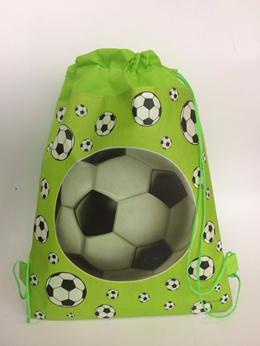 waterproof  footballl printed backpack for kids school bag shoe beach travel bag for boys and girls