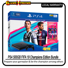 SONY PLAYSTATION PS4 Slim 500GB FIFA 19 2218A Champions Edition Bundle. Local Stocks + 1 Year Local Warranty